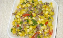 Sweet Corn and Mint Chaat