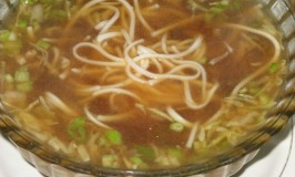 Noodles and Vegetable Soup