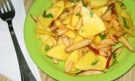 Raw Mango Apple Salad
