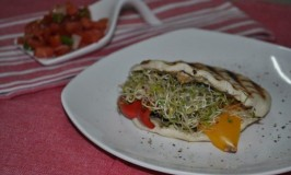 Grilled Vegetable Pita Pocket Sandwich