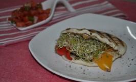 Grilled Vegetable Pita Pocket Sandwich