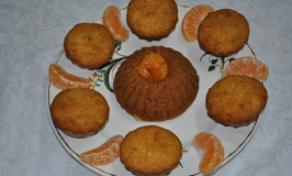Eggless Orange Cup Cake