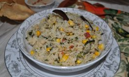 Corn and Methi Pulao