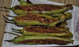 Peanut Stuffed Chilies