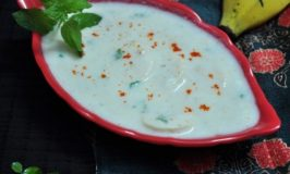 Banana Raitha Recipe – Banana in Yoghurt – Kela Raitha