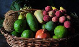 Fruit and Coconuts arrangement